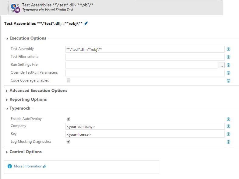 Configure Run Typemock with VSTest